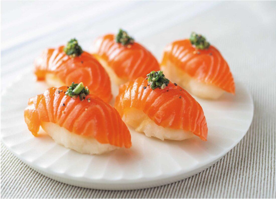 サーモンとポテサラお寿司仕立て