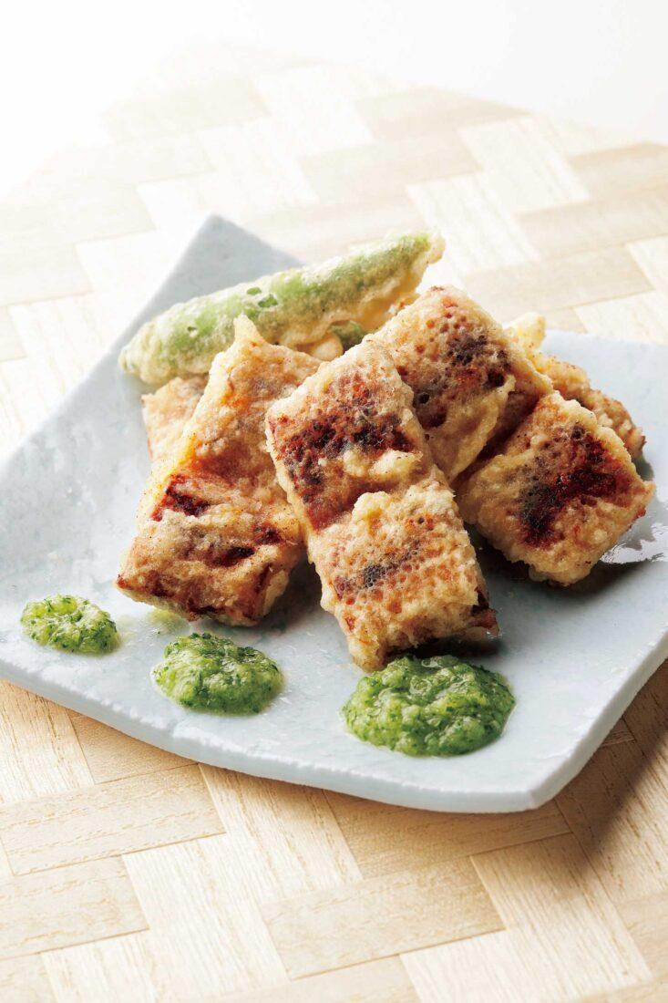 うなぎの天ぷら きゅうり酢がけ