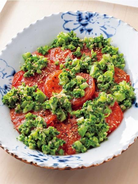 焼きトマトとブロッコリーのサラダ