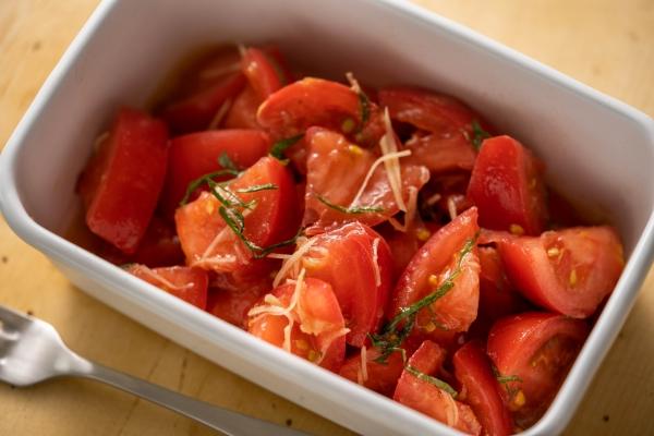 マリネ風しょうがのトマトサラダ