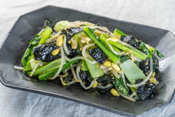 小松菜と豆もやしのレンチンナムル