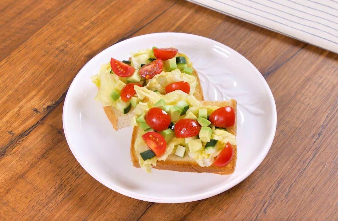 簡単サラダトースト