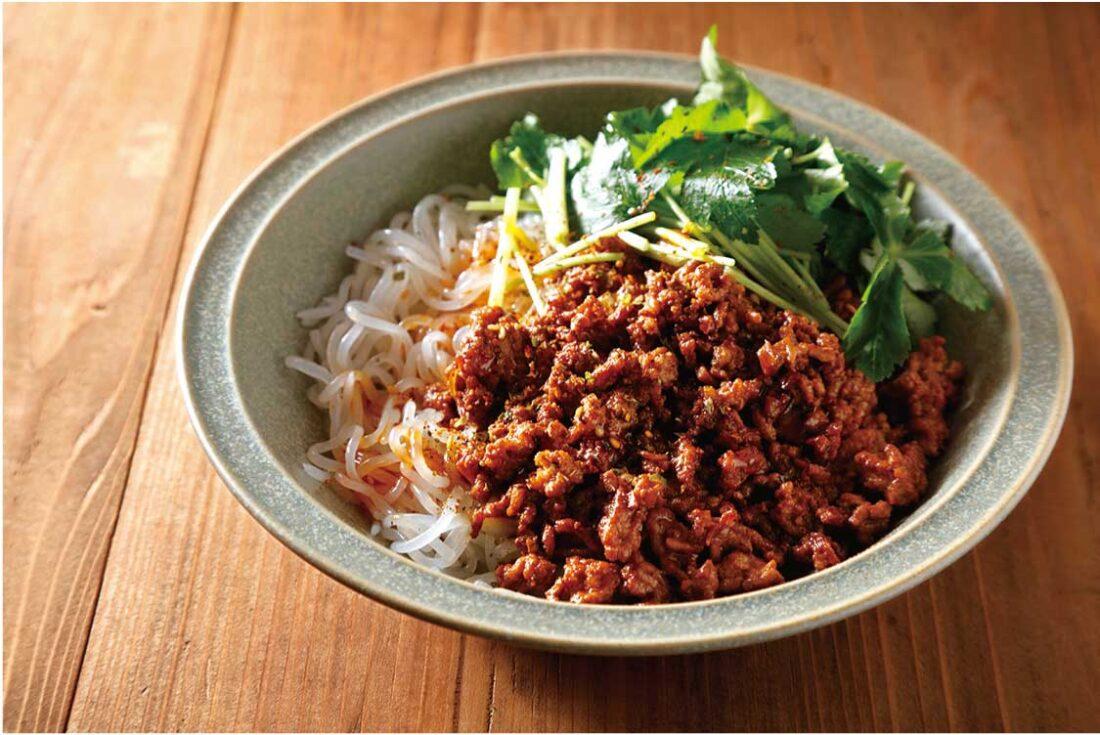 しらたきの肉味噌坦々和え麺