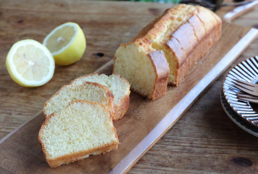 冷やしておいしいレモンのパウンドケーキ