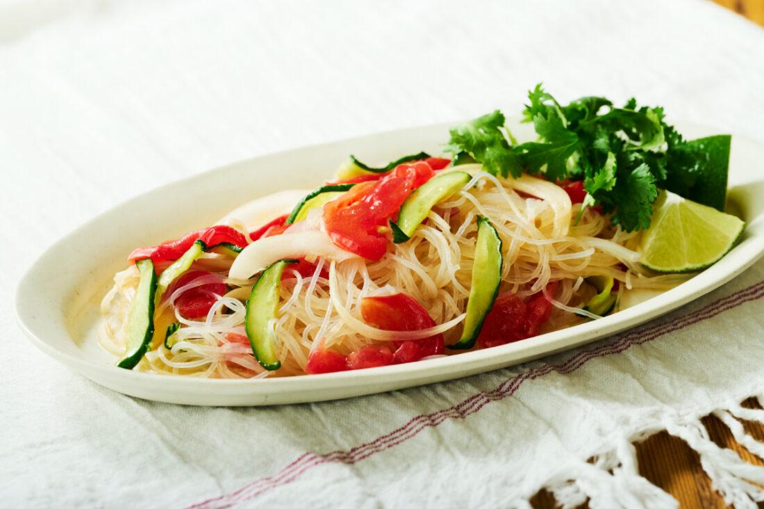 干し野菜と春雨のサラダ